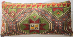 Vintage kilim cover rectangle (40*80cm) #LR32