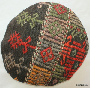 Kilim Cushion Cover Round (35cm) #RS1