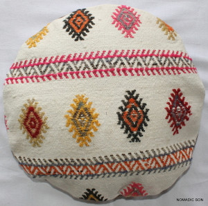 Kilim Cushion Cover Round (35cm) #RS16