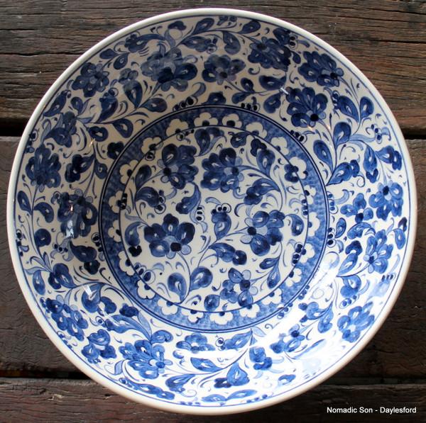 Footed ceramic bowl - 'Samur' 25cm