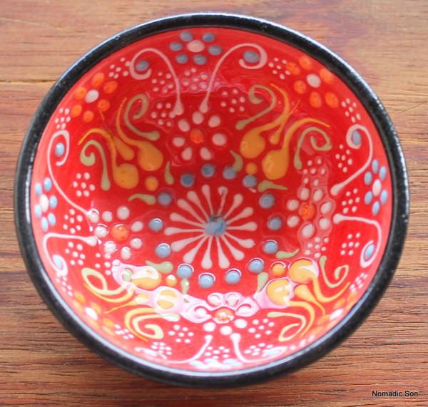 Special Kabartma ceramic bowls - 7cm
