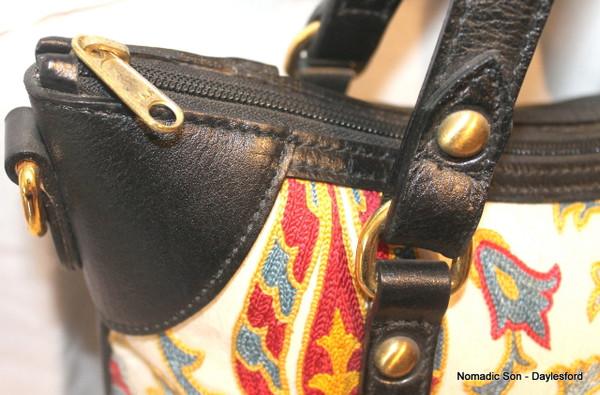 Large Suzani and leather handbag