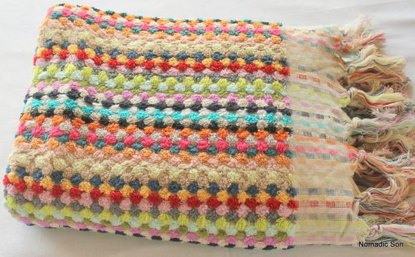 Artisan hand loomed towels (Pom Pom) - Bath towel 80*160cm