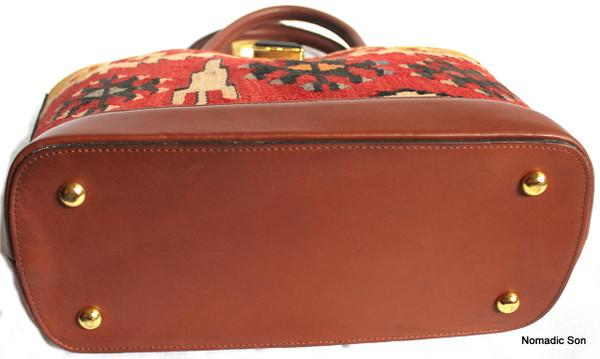 Sarkoy Handbag - vintage kilim and leather