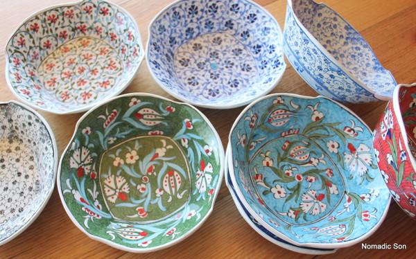 Large Bektasi Wave Bowl. Handmade and hand painted in Turkey
