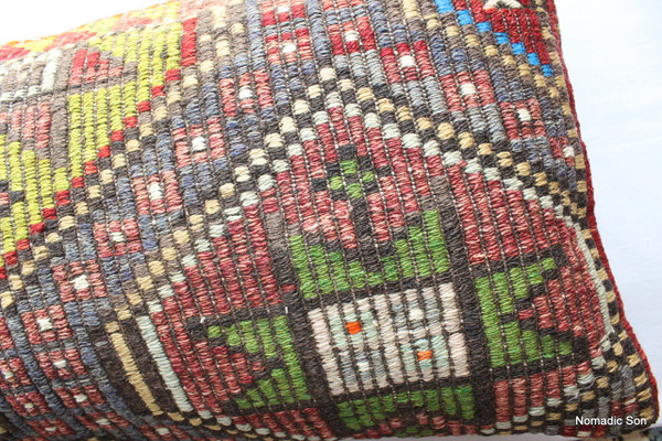 Vintage kilim cover rectangle (40*80cm) #LR7