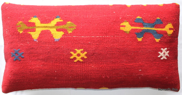 Vintage kilim cover rectangle (40*80cm) #LR12