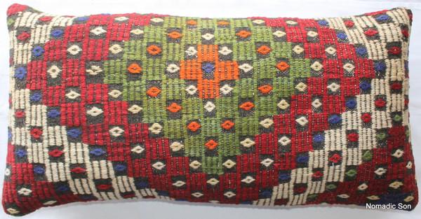 Vintage kilim cover rectangle (40*80cm) #LR13
