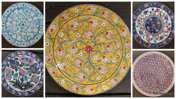 Dinner plates (30cm) - hand painted