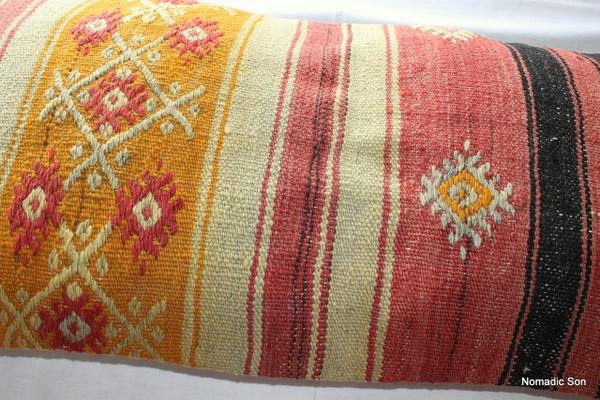 Vintage kilim cover rectangle (40*80cm) #LR27