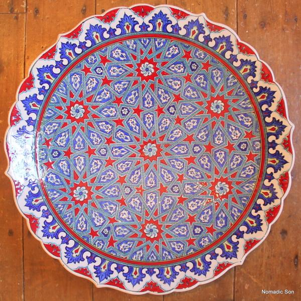 'Sultan' Geometric Hanging Plate - 55cm