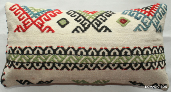 Vintage kilim cover - quarter rectangle (25*50cm) #QR19