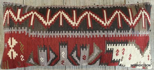 Vintage Kilim cover rectangle (30*70cm) #L3727