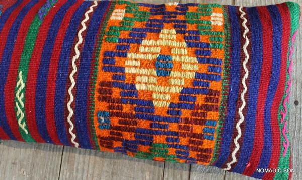 Vintage Kilim cover rectangle (30*70cm) #L3735