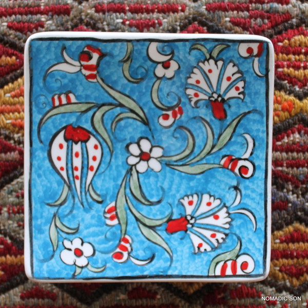Soloman's Square Platter (Small, 12cm) - Hand painted - Food safe