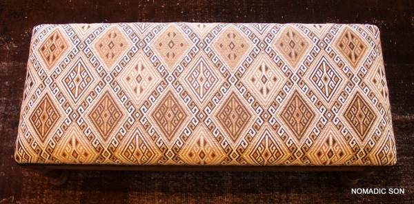 'Caramel' Ottoman Long Bench