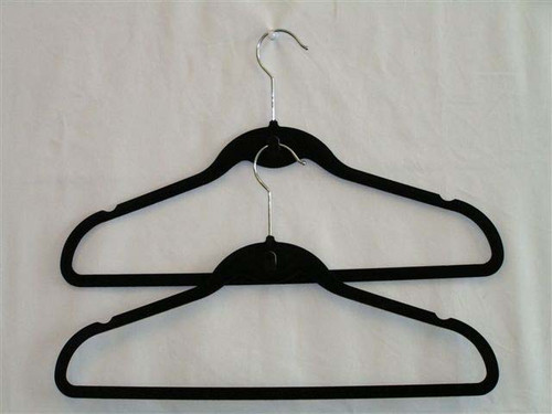 Pack of 5 Black Velvet Hangers