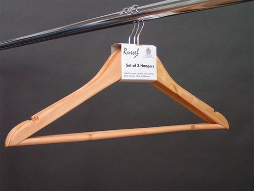 Pack of 3 Wooden Hangers