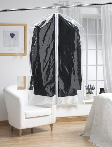 Pack of 2 Clear Garment Covers Short