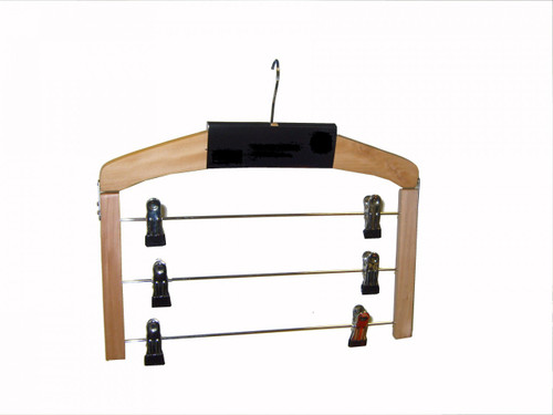 Single 3 Bar Wooden Trouser Hanger