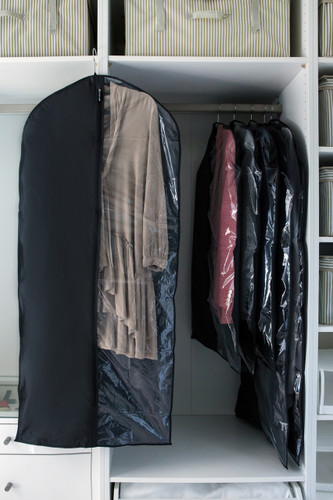 Black Coat/Dress Cover Large Viewing Window