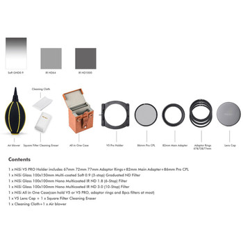 NiSi Filters 100mm V5 Pro Starter Kit + BONUS Enhanced Landscape C-PL - Second Generation II