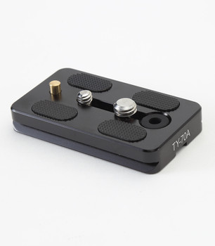 """Sirui Quick Release Plate TY-70A with 1/4"""" & 3/8"""" screws & video pin"""