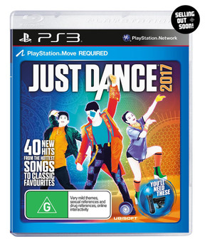 Just Dance 2017 (PS3) Australian Version (Move Required)