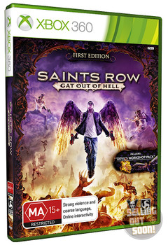 Saints Row Gat Out Of Hell FIRST EDITION (Xbox 360) Rare Australian