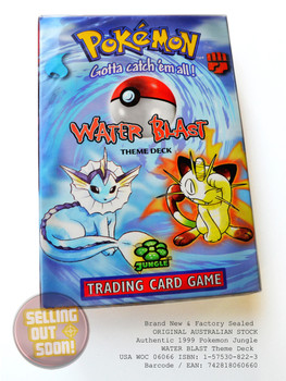 Pokemon Jungle Theme Deck WATER BLAST (circa 1999)