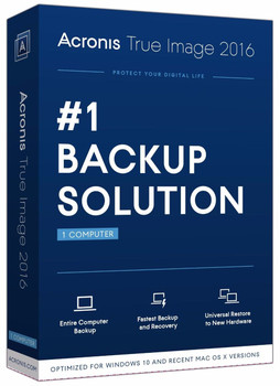 Acronis True image 2016 (PC & Mac) Bootable Backup Software, Mac OSX + Windows XP 7 8 10 Australia