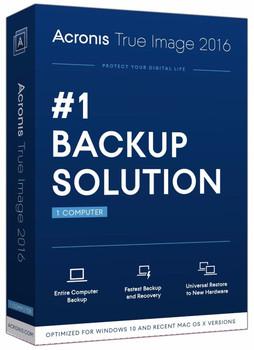 Acronis True image 2016 (PC & Mac) Bootable Backup Software, Mac OSX + Windows XP 7 8 10 Australia