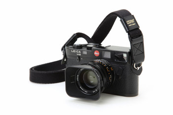Artisan & Artist Camera Strap - ACAM-100 Woven Cloth & Leather Extra Long Strap. (Black with Black Leather Only)