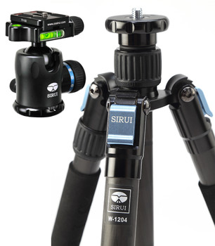Sirui W-1204 Waterproof Tripod with Sirui K-10X Ballhead