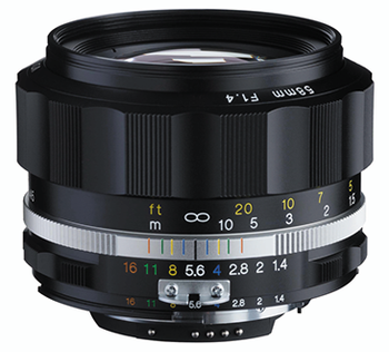 Voigtlander 58mm f/1.4  SL II N - S Nokton (Nikon Mount) Black - Exclusive TRIPLE Warranty