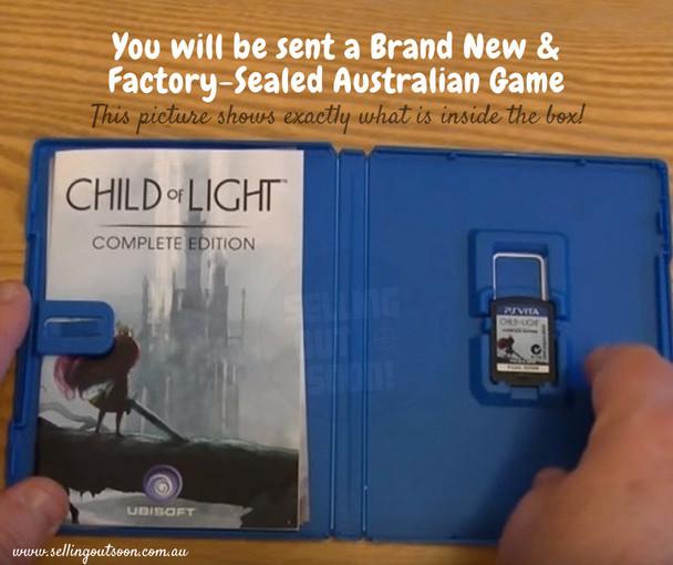 Child Of Light Complete Edition (Vita) Rare 1st Pressing Australian Version
