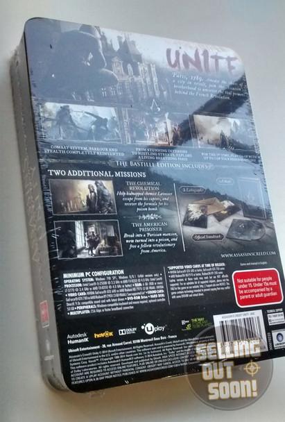 Assassin Creed Unity Bastille Edition (PC) Rare Australian Collectors Edition