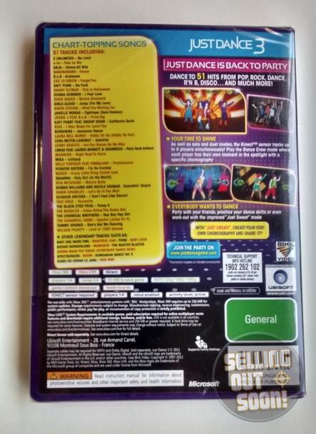 Just Dance 3 (Xbox 360) KINECT Australian Version