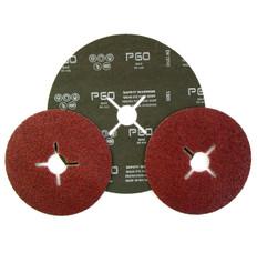 178mm Aluminium Oxide Fibre Discs, 25 Pack