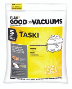 Taski Microfibre Vacuum Bags, 5 Pack