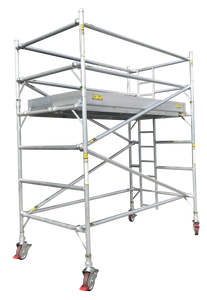 Titan Double Width Integrated Ladder Mobile Tower Scaffolding