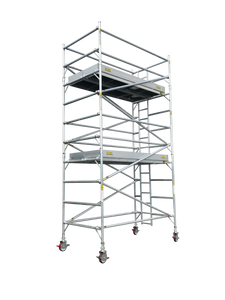 Titan Double Width Integrated Ladder Mobile Tower Scaffolding - 6.0m Working Height