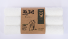 Two Fussy Blokes 360mm Semi Smooth Microfibre Roller Sleeve, 10mm Nap - 3 Pack