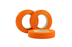 Orange Vinyl Flexible Exterior Masking Tape, 60 Day Clean Removal