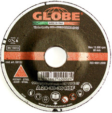 Globe Reinforced Metal Grinding Discs 115 x 6.5 x 22