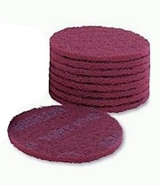 Mirka Mirlon Velcro 150mm Scuff Discs, Very Fine red