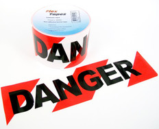 Red / White Barrier Danger Tape, Non Adhesive