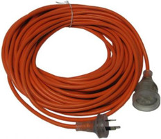 20 Metre Standard Extension Lead with LED Light Feature - Orange