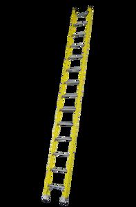 Pro Series Heavy Duty Industrial Fibreglass Single Ladder