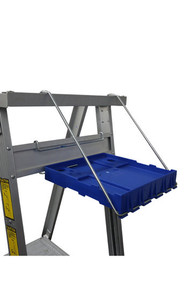 Indalex Platform Ladder Tool Tray on Aluminium Ladder
